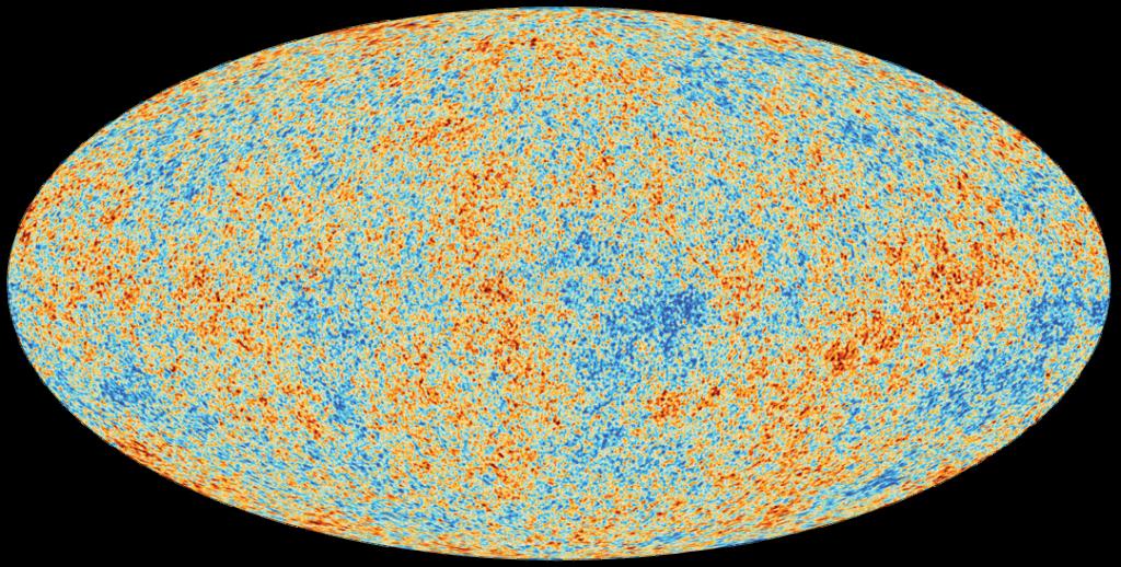 Fondo Cósmico de Microondas. Créditos: European Space Agency, Planck Collaboration